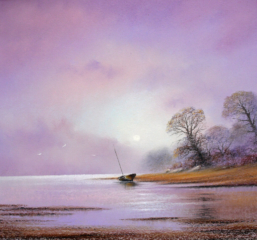 A Quiet Spot By Graham Cox - 30cm x 30cm square framed and double mounted - £75.00