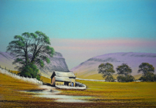 Barn near Malham By Graham Cox - 39cm x 31cm framed and double mounted - £85.00
