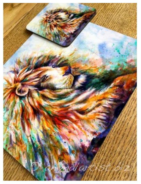 Lion Placemat and Coaster By Sally Goodden - £11 plus 2.50 p+p