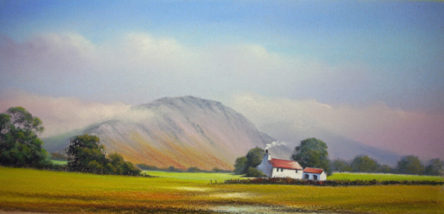 Murt Farm, Nether Wasdale By Graham Cox - 43 x 24cm framed and double mounted - £95.00