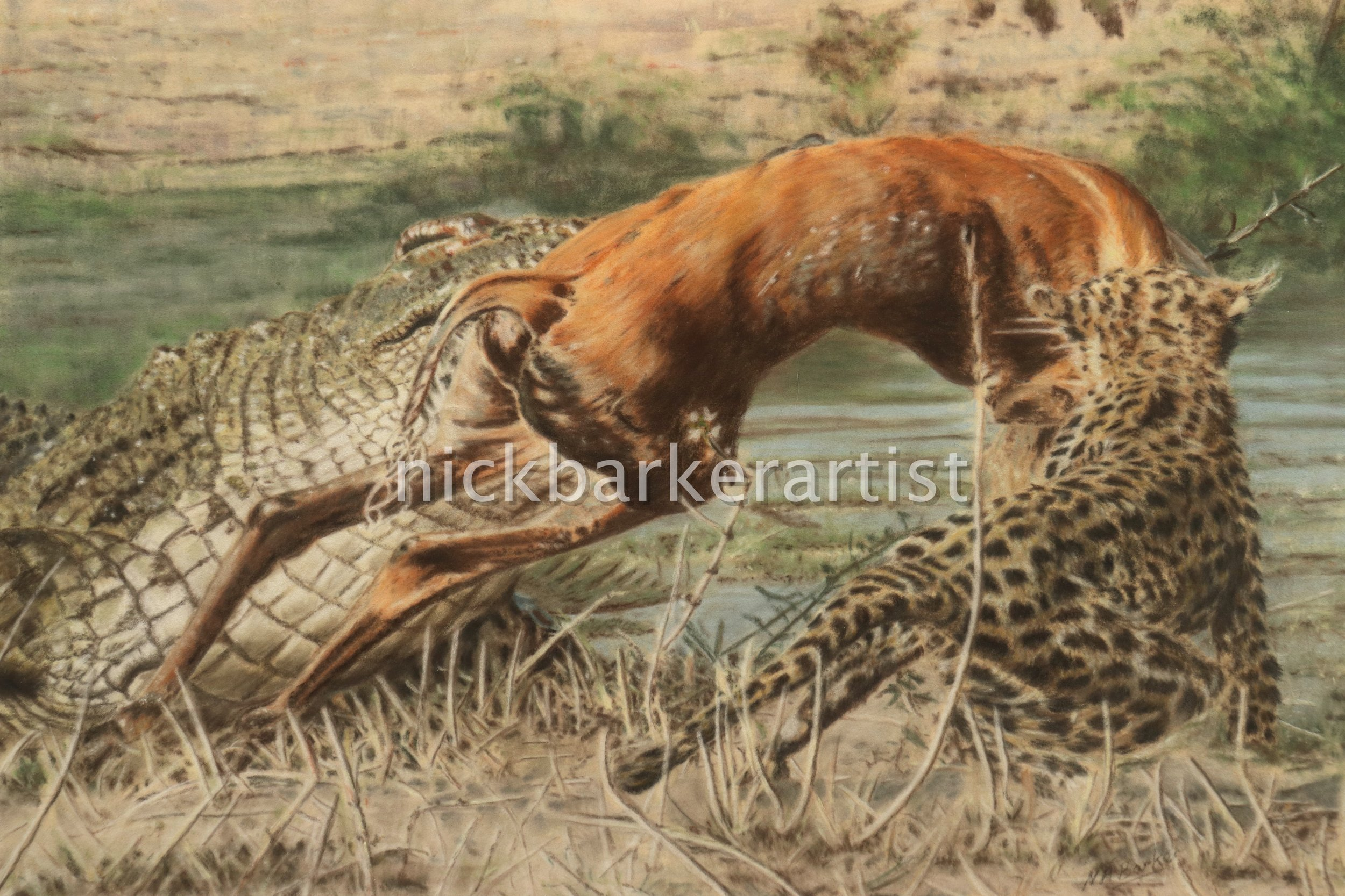 'Winner Takes All' By Nick Barker - Pastel - 29cm x 37cm - £2,000 (inc frame)