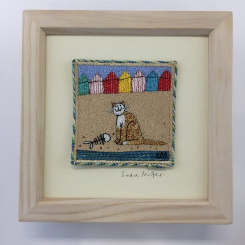 Beach Snack By Linda Millar - Machine Embroidery Frame - 19cm x 19cm - £95