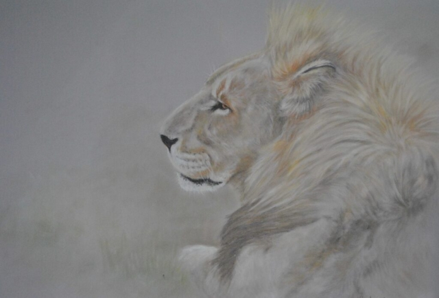 Contented Pride By Helen Rawlings - Pan Pastel on Pastel Board - Framed Original - 21x16.5 - £255