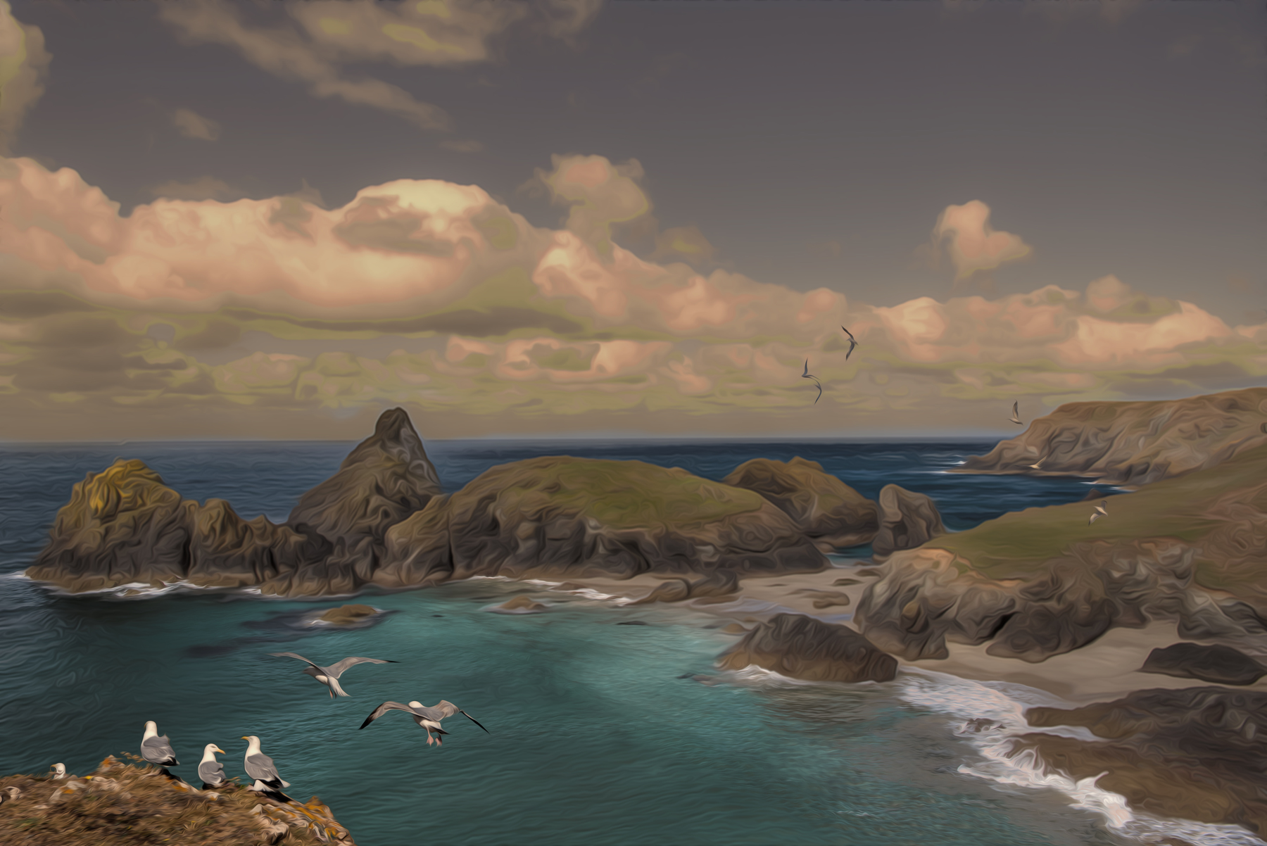 Kynance Cove By Martin Raskovsky - Digitally Manipulated Photography - (Various Sizes & Prices)