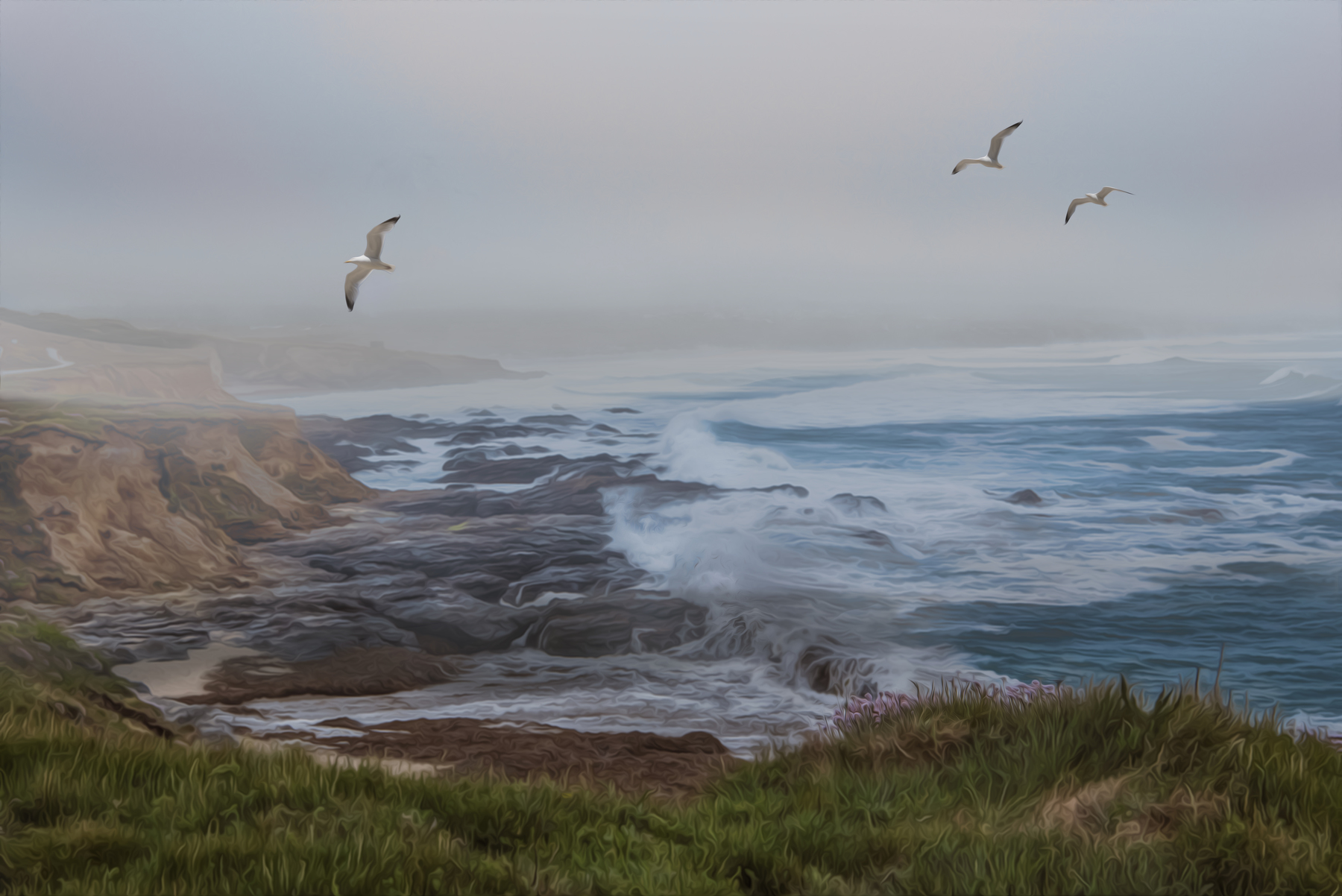 Stormy Coast By Martin Raskovsky - Digitally Manipulated Photography - (Various Sizes & Prices)