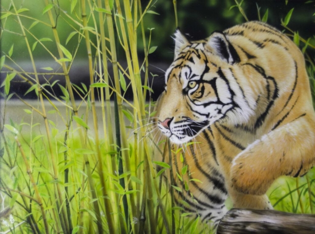Silent Hunter by Jamie Sinclair - Acrylic - Framed Original - 14x18'' - £540