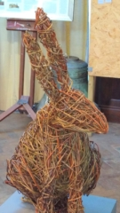Hare By Jacquline Rolls - Willow Sculpture - 40w x 80h x 35cm £200