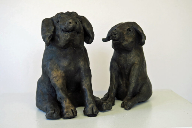Mr & Mrs Pig By Anne Swatton - Ceramic - 6in & 4.5in High - £50
