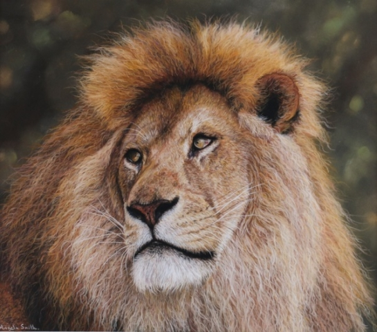 The King by Angela May Smith - Pastel - 20.5x19.5in - £425