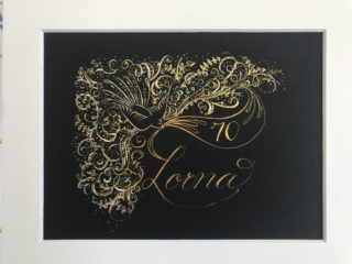 Name Example 2 Calligraphy By Wendy Hunt