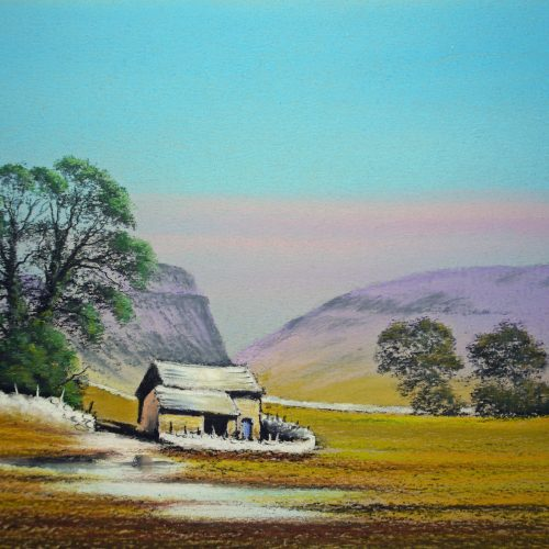 Barn near Malham By Graham Cox - 39cm x 31cm framed and double mounted - £SOLD