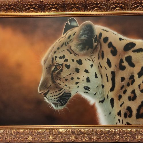 Golden Moments by Jamie Sinclare - Airbrush acrylic on Board - 94cm x 70cm - £750