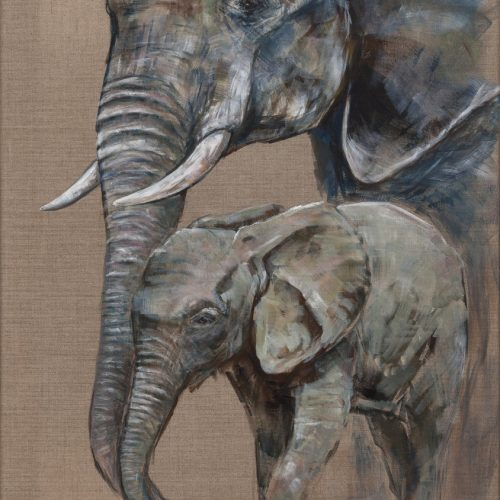 Protective Mother By Helen Rawlings - Framed Original Acrylic on Canvas - 24''x32'' £950 Available as a framed canvas print ( 24 x 32) £135