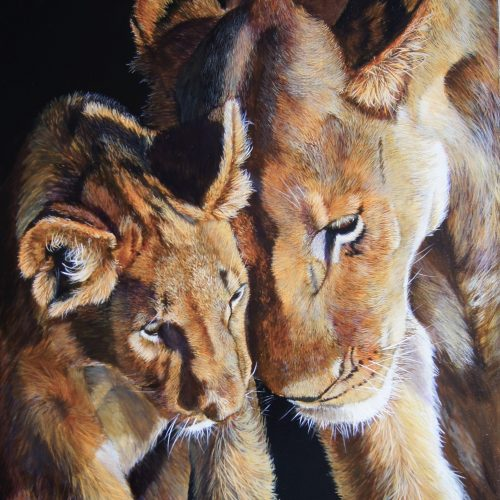 "Unconditional Love By Fiona Champion - Acrylic - 28"" x 36"" - £700 (framed)"