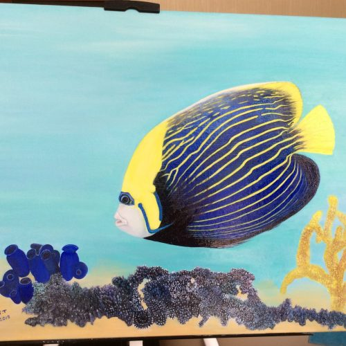 Angel Fish by Sylvaine Thomas - Oil - £600 - 19.5